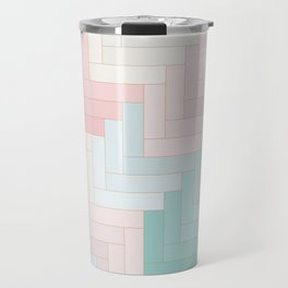 Pastel Chevron Pattern Travel Mug