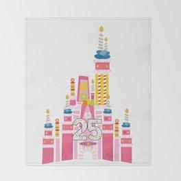 25th Birthday Magic Cake Castle Throw Blanket