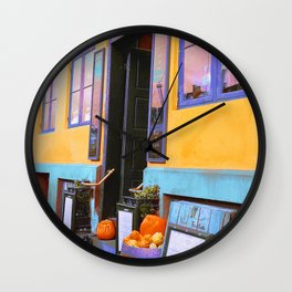 Danish Bar in Autumn Wall Clock