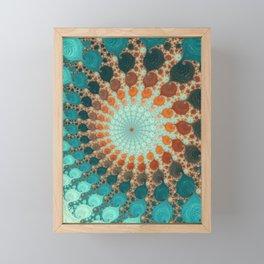 Tangerine Treat - Fractal Art  Framed Mini Art Print