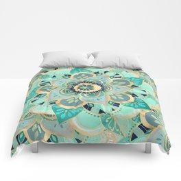 Gilded Emerald Enamel Comforters