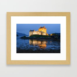 EILEAN DONAN CASTLE - SCOTLAND LANDSCAPE NIGHT PHOTOGRAPHY PRINT Framed Art Print