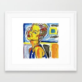 figure in color study Framed Art Print