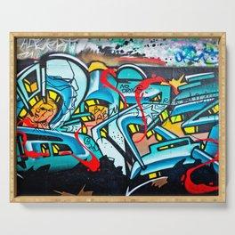 Subway Graffiti Art Serving Tray