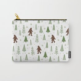 trees + yeti pattern in color Carry-All Pouch