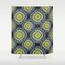 Celestial Batik flower Shower Curtain
