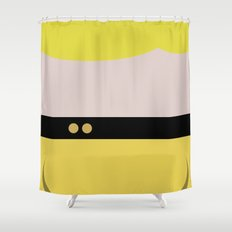 Tasha Yar - Minimalist Star Trek TNG The Next Generation  Lieutenant startrek Trektangles Shower Curtain