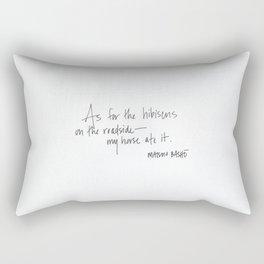 Matsuo Basho poem Rectangular Pillow