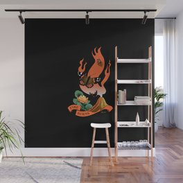Fire Burns Wall Mural