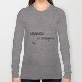 Alec Defending Magnus Conversation Design Long Sleeve T-shirt
