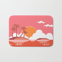 Sunset  on  Coco  Island Bath Mat