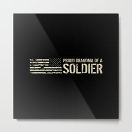 Proud Grandma of a Soldier Metal Print
