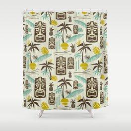 Island Tiki - Tan Shower Curtain