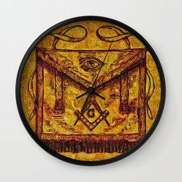 Masonic Symbolism Wall Clock