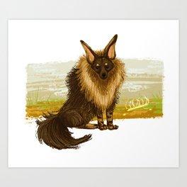 Brown Hyena Art Print