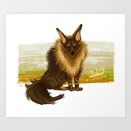 Brown Hyena Art Print