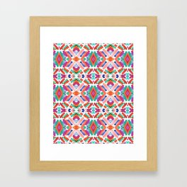 Watercolor Boho Dash 3 Framed Art Print
