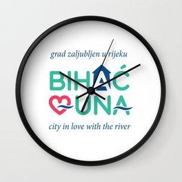 BIHAC LOVES UNA Wall Clock