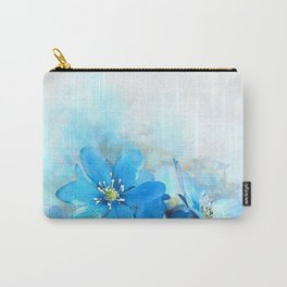 Summer Blue #watercolor #floral Carry-All Pouch