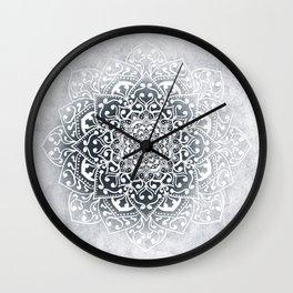 WINTER VIBES MANDALA Wall Clock