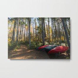 Fall Canoe Scene  Metal Print