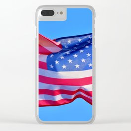 Keep Flying that US Flag you Patriot you Clear iPhone Case