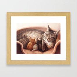 Mother cat Framed Art Print