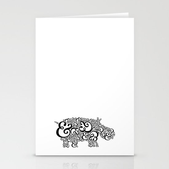 Ampersand Hippo Stationery Cards