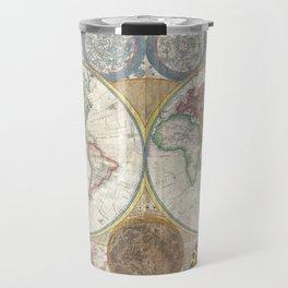Map of the World in Hemispheres Travel Mug