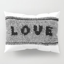 Knitted Love Pillow Sham