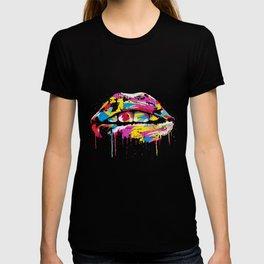 Colorful lips T-shirt