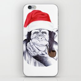 Christmas Chimp iPhone Skin