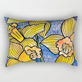 Spring Daffodils Rectangular Pillow