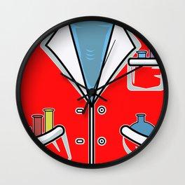 Lab coat smock chemist lab technician Wall Clock