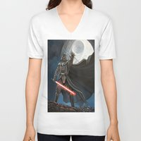 death star V-neck T-shirts featuring Death Star by Laura-A