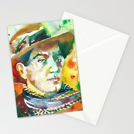 FRITZ LANG - watercolor portrait.2 Stationery Cards