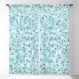 BLue Cherry Blossoms Blackout Curtain