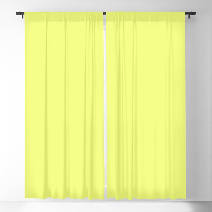Spring - Pastel - Easter Yellow Solid Color 3 Blackout Curtain