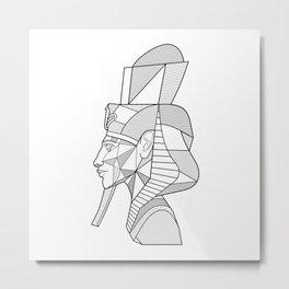 Akhenaten Pharaoh Metal Print