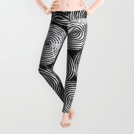 Radial Block Print in Black Leggings