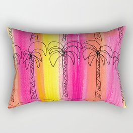 Live For the Moment (palm trees pattern summer beach tropical) Rectangular Pillow