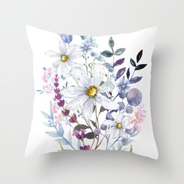 Wildflowers V Throw Pillow