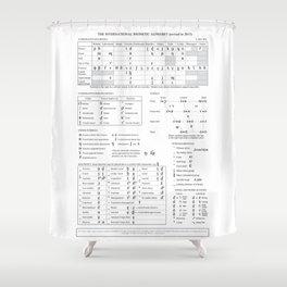 International Phonetic Alphabet IPA Shower Curtain