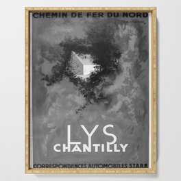 retro monochrome Lys Chantilly Serving Tray