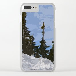 WINTER SPIRES Clear iPhone Case