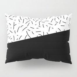 Speckled Black I - Abstract Art Pillow Sham