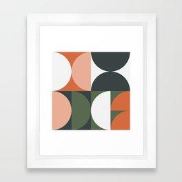 Mid Century Geometric 15 Framed Art Print