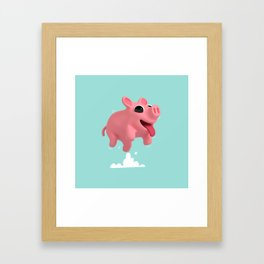 Rosa the Pig Jumps Framed Art Print