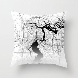 City Map Neck Gaiter Jacksonville Florida Neck Gator Throw Pillow