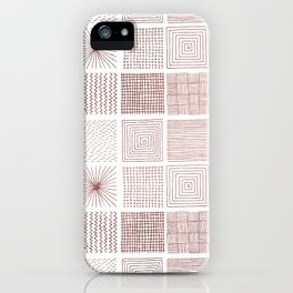 Modern faux rose gold abstract geometrical pattern iPhone Case